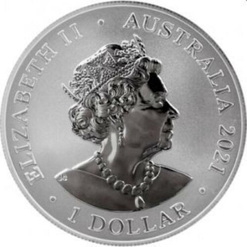 Vorderseite:Australien : 1 Dollar Großer Weißer Hai 1oz  2021 Stgl.