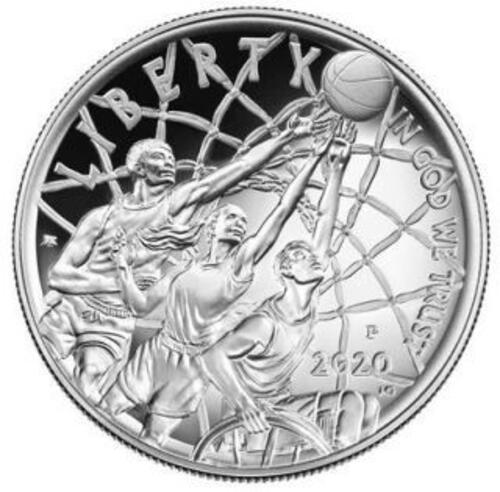Rückseite:USA : 1 Dollar Basketball - Hall of Fame  2020 PP