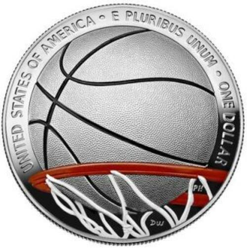 Vorderseite:USA : 1 Dollar Basketball - Hall of Fame  2020 PP