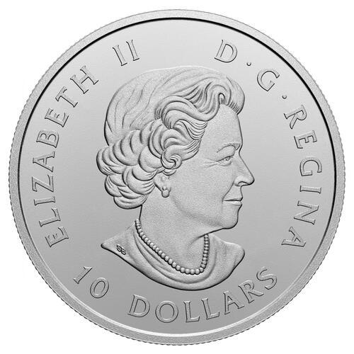 Rückseite:Kanada : 10 Dollar O kanada! Wachablösung   2020 Stgl.