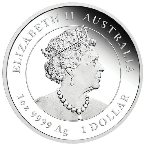 Rückseite:Australien : 1 Dollar Jahr des Ochsen (Farbe)  2021 PP