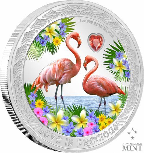 Vorderseite:Niue : 2 Dollar Liebe ist wertvoll  2021 PP