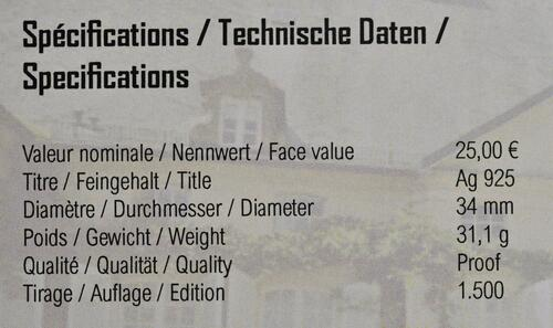 Zertifikat:Luxemburg : 25 Euro Prinz Charles  2020 PP