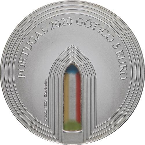 Vorderseite:Portugal : 5 Euro Gotik  2020 PP