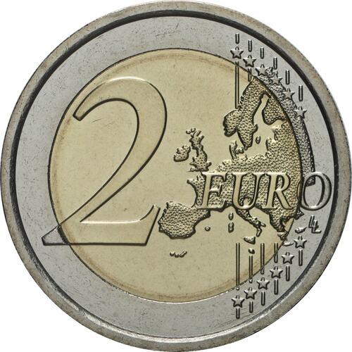 Vorderseite:Italien : 2 Euro Rom - 150 Jahre Hauptstadt von Italien  2021 bfr