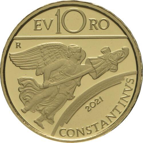 Rückseite:Italien : 10 Euro Konstantin der Große #5  2021 PP