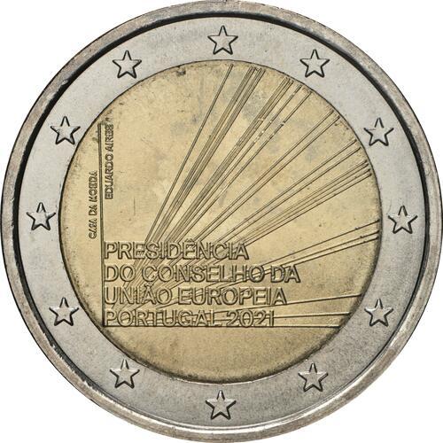 Rückseite:Portugal : 2 Euro EU-Präsidentschaft  2021 bfr
