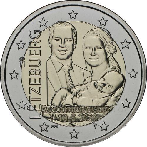 Rückseite:Luxemburg : 2 Euro Prinz Charles Münzzeichen Brücke  2020 Stgl.