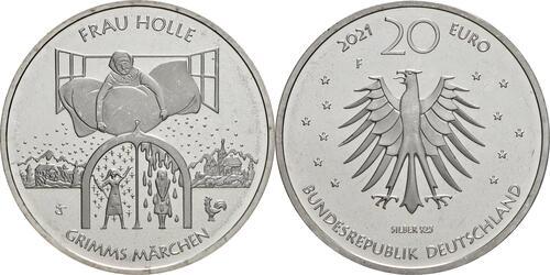 Lieferumfang:Deutschland : 20 Euro Grimms Märchen Frau Holle  2021 bfr