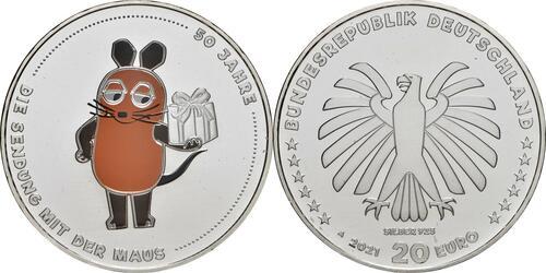 Lieferumfang:Deutschland : 20 Euro 50 Jahre Sendung mit der Maus  2021 bfr