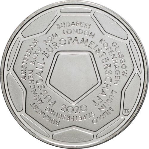 Vorderseite:Deutschland : 20 Euro Fußball EM 2020  2021 bfr