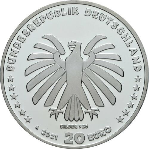 Rückseite:Deutschland : 20 Euro 50 Jahre Sendung mit der Maus  2021 PP