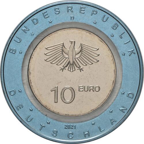 Rückseite:Deutschland : 10 Euro Auf dem Wasser Buchstabe unserer Wahl  2021 bfr