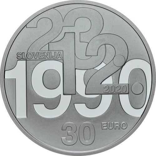 Rückseite:Slowenien : 30 Euro 30 Jahre Unabhängigkeit  2020 PP