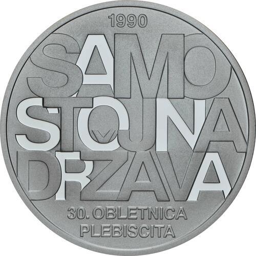 Vorderseite:Slowenien : 30 Euro 30 Jahre Unabhängigkeit  2020 PP