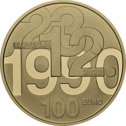 Rückseite:Slowenien : 100 Euro 30 Jahre Unabhängigkeit  2020 PP