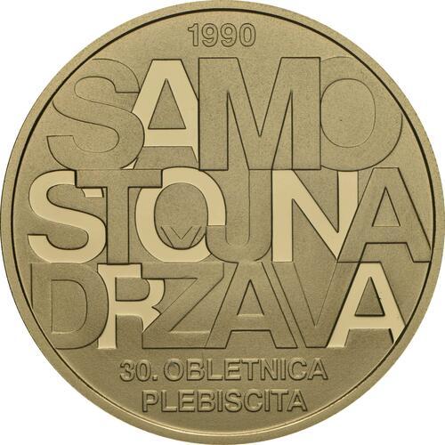 Vorderseite:Slowenien : 100 Euro 30 Jahre Unabhängigkeit  2020 PP