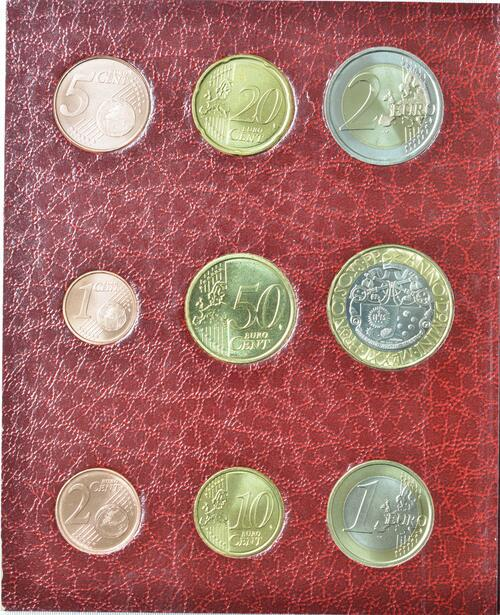 Vorderseite:Vatikan : 8,88 Euro KMS Vatikan mit 5 Euro Papst Leo X.  2021 Stgl.