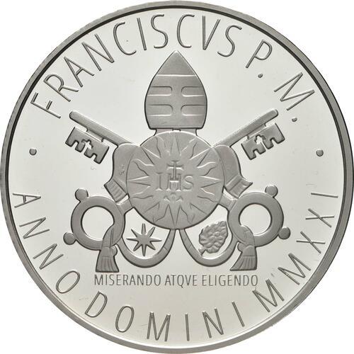 Rückseite:Vatikan : 23,88 Euro KMS Vatikan mit 20 Euro Gedenkmünze  2021 f.Stgl.