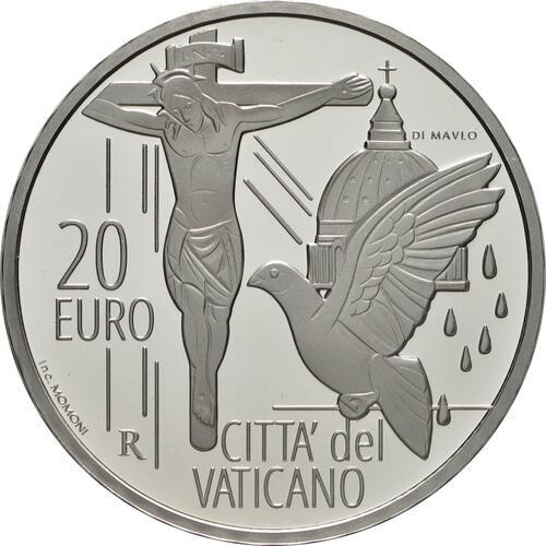 Vorderseite:Vatikan : 23,88 Euro KMS Vatikan mit 20 Euro Gedenkmünze  2021 f.Stgl.