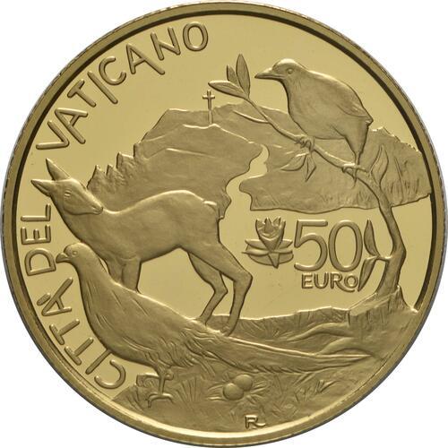 Vorderseite:Vatikan : 53,88 Euro KMS Vatikan mit 50 Euro Gedenkmünze  2021 PP