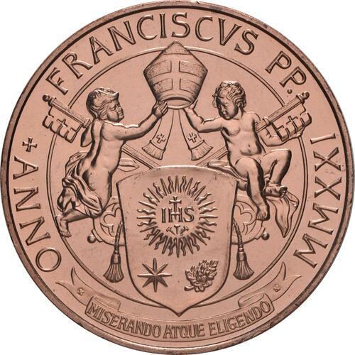 Rückseite:Vatikan : 20 Euro Kunst und Glaube: St. Peter  2021 Stgl.