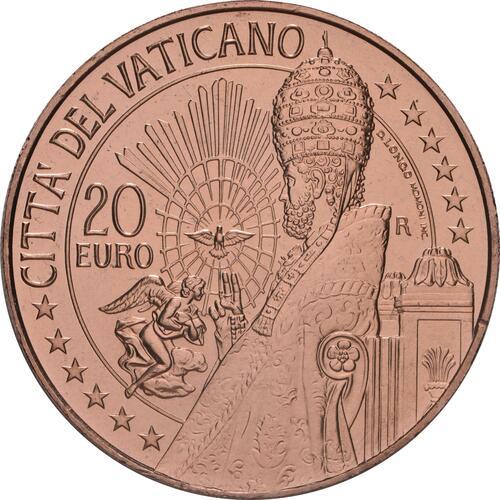 Vorderseite:Vatikan : 20 Euro Kunst und Glaube: St. Peter  2021 Stgl.