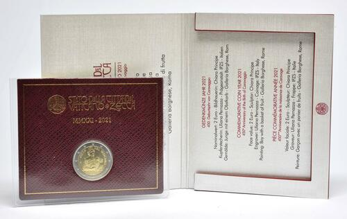 Lieferumfang:Vatikan : 2 Euro 450. Geburtstag von Caravaggio  2021 Stgl.