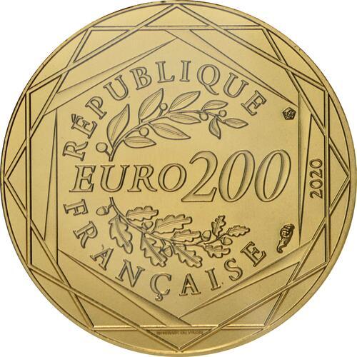 Rückseite:Frankreich : 200 Euro Tanzende Schlümpfe 2  2020 Stgl.