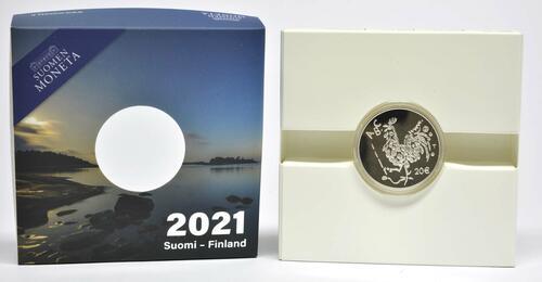 Lieferumfang:Finnland : 20 Euro 100 Jahre Einführung der Schulpflicht  2021 PP