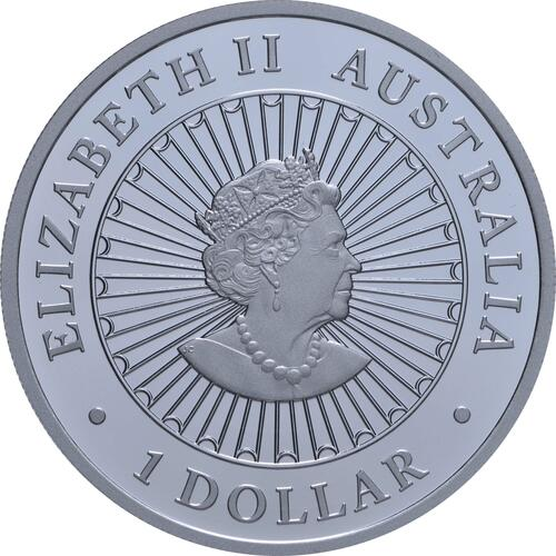 Rückseite:Australien : 1 Dollar Jahr des Ochsen - Lunar Opalserie  2021 PP