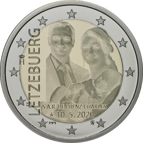 Rückseite:Luxemburg : 2 Euro Prinz Charles / Hologramm  2020 PP