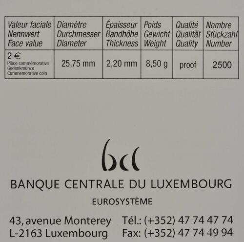 Zertifikat:Luxemburg : 2 Euro Prinz Charles / Hologramm  2020 PP