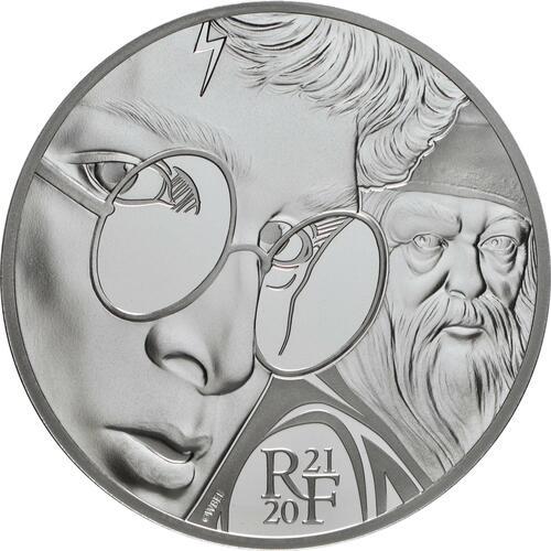 Vorderseite:Frankreich : 10 Euro Harry Potter und Dumbledore  2021 PP