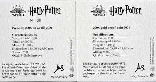 Zertifikat:Frankreich : 200 Euro Harrys Eule Hedwig  2021 PP