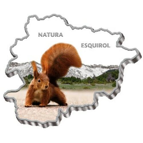 Lieferumfang:Andorra : 10 Din Wildlifeserie - Eichhörnchen - Map Shaped  2013 PP