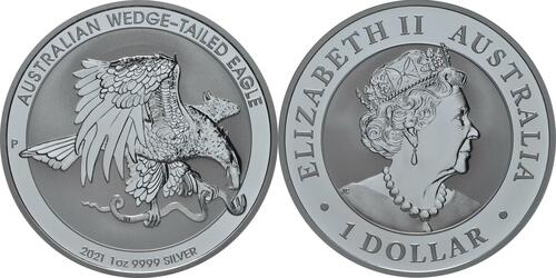 Lieferumfang:Australien : 1 Dollar Wedge Tailed Eagle  2021 Stgl.