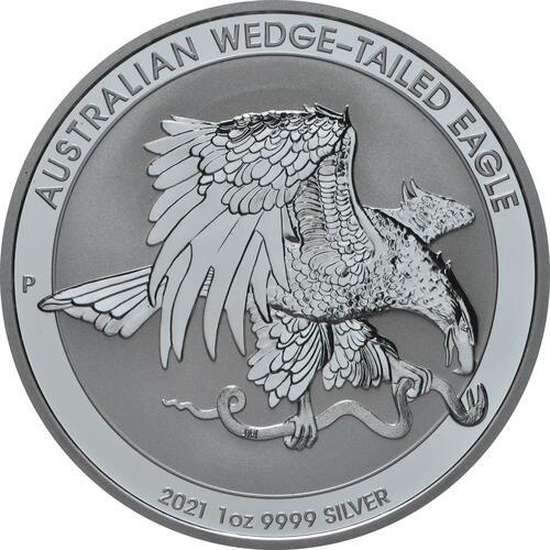 Vorderseite:Australien : 1 Dollar Wedge Tailed Eagle  2021 Stgl.