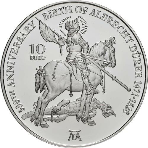 Vorderseite:Malta : 10 Euro 550. Geburtstag Albrecht Dürer  2021 PP