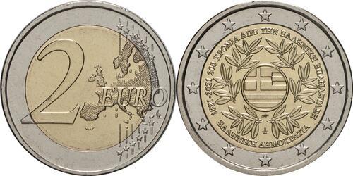 Lieferumfang:Griechenland : 2 Euro 200. Jahrestag der griechischen Revolution  2021 bfr