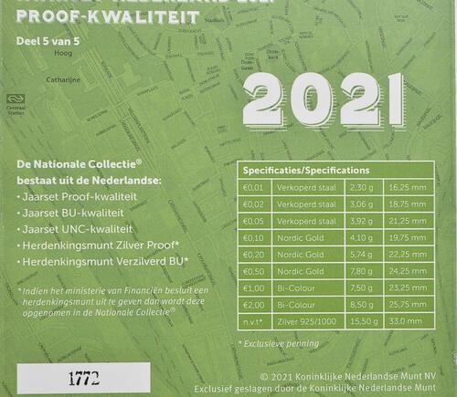 Zertifikat:Niederlande : 3,88 Euro KMS Niederlande mit Medaille   2021 PP