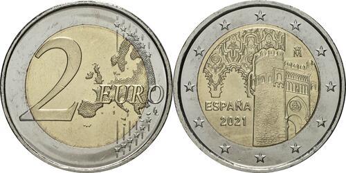 Lieferumfang:Spanien : 2 Euro Altstadt von Toledo  2021 bfr