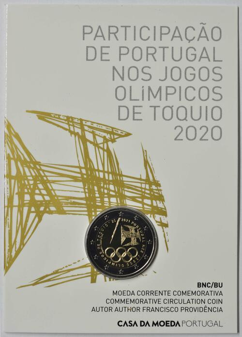Lieferumfang:Portugal : 2 Euro Teilnahme an den Olympischen Spielen in Tokio  2021 Stgl.