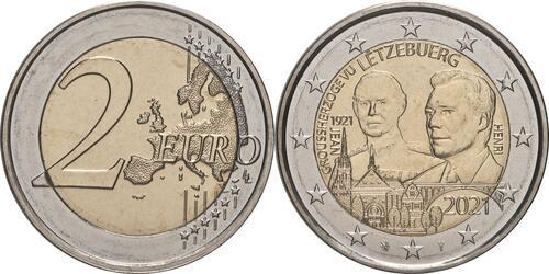 Lieferumfang:Luxemburg : 2 Euro 100. Geburtstag des Großherzogs Jean / Reliefprägung  2021 bfr
