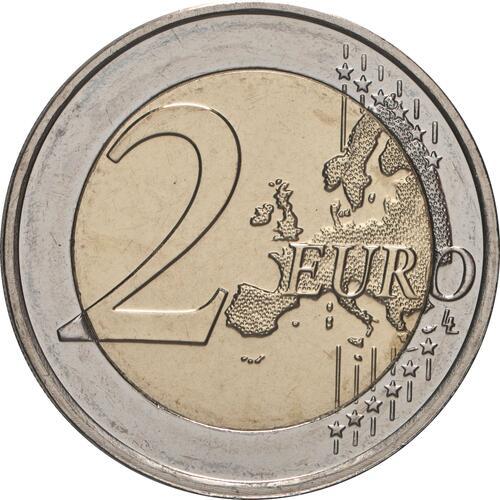 Vorderseite:Luxemburg : 2 Euro 100. Geburtstag des Großherzogs Jean / Reliefprägung  2021 bfr