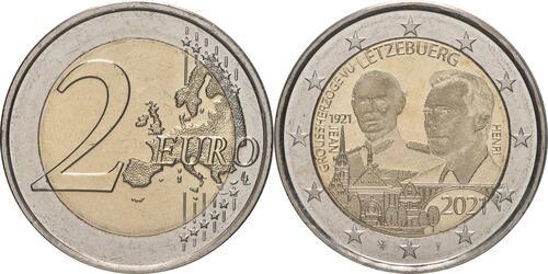 Lieferumfang:Luxemburg : 2 Euro 100. Geburtstag des Großherzogs Jean / Hologrammprägung  2021 bfr