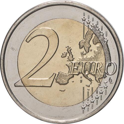 Vorderseite:Luxemburg : 2 Euro 40. Hochzeitstag des großherzoglichen Paares / Reliefprägung  2021 bfr