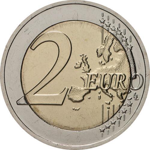 Vorderseite:Litauen : 2 Euro Zuvintas Biosphärenreservat  2021 bfr