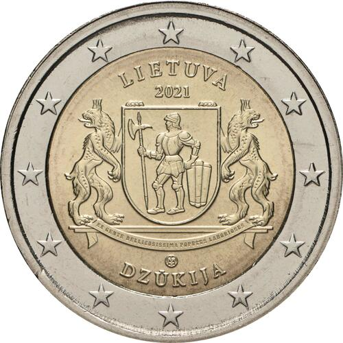 Rückseite:Litauen : 2 Euro Dzukija  2021 bfr