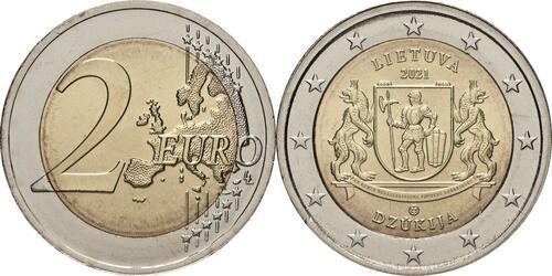 Lieferumfang:Litauen : 2 Euro Dzukija  2021 bfr